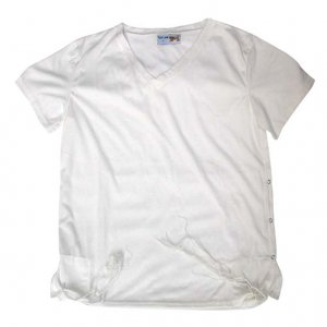 Men's T-Shirt with Attached Kosher Tzitzit - White