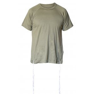 Dry-Fit T-Shirt with Kosher Tzitzit - Olive Green