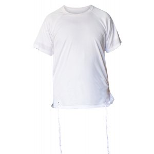 Dry-Fit T-Shirt with Kosher Tzitzit Attached - White