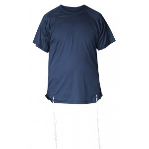 Mens Dry-Fit T-Shirt with Kosher Tzitzit Attached - Dark Blue