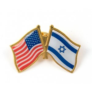 USA-Israel Flag Lapel Pin