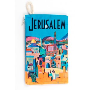 Colorful Old City Jerusalem Design Cloth Purse