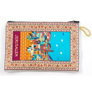 Jerusalem in Color Embroidered Cloth Purse