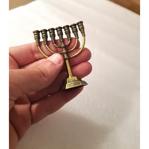 Bronze Classic Design Decorative Small Seven Branch Menorah