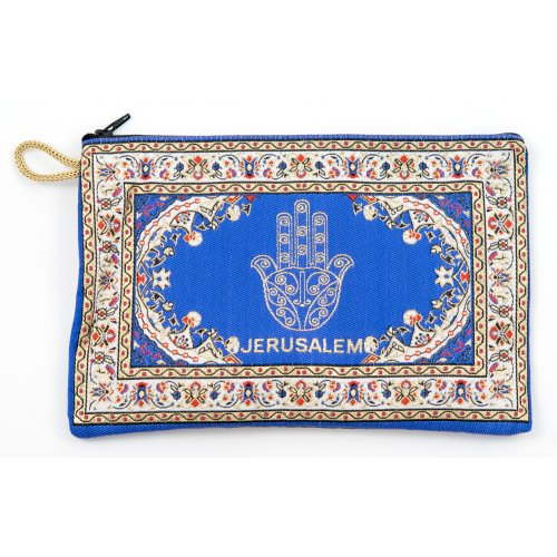 Hamsa Flower Embroidered Cloth Purse