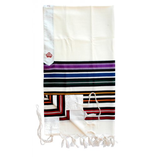 Sons of Light Bnei Or Prayer Shawl by Talitania - Rainbow