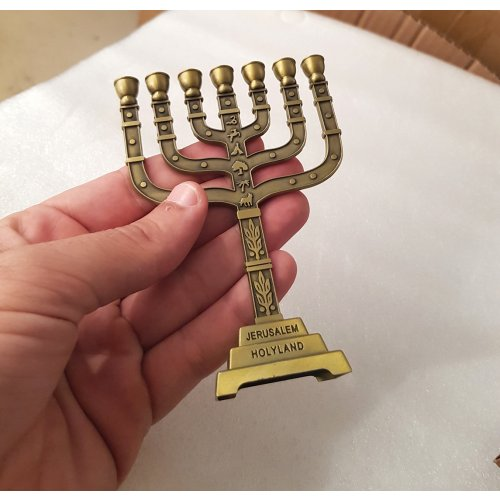 Twelve Tribes Bronze Small Temple Menorah