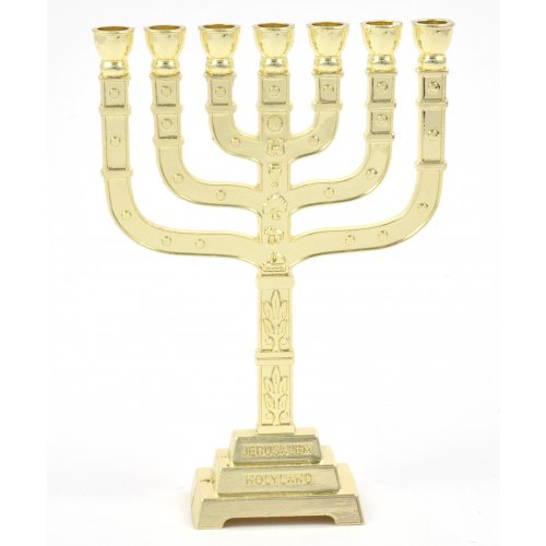 Twelve Tribes Gold Small Temple Menorah